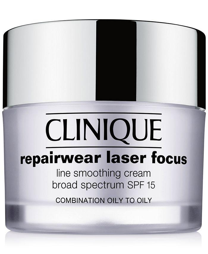 Clinique - Repairwear Laser Focus Line Smoothing Cream Broad Spectrum SPF 15 - Combination Oily to Oily, 1.7 oz