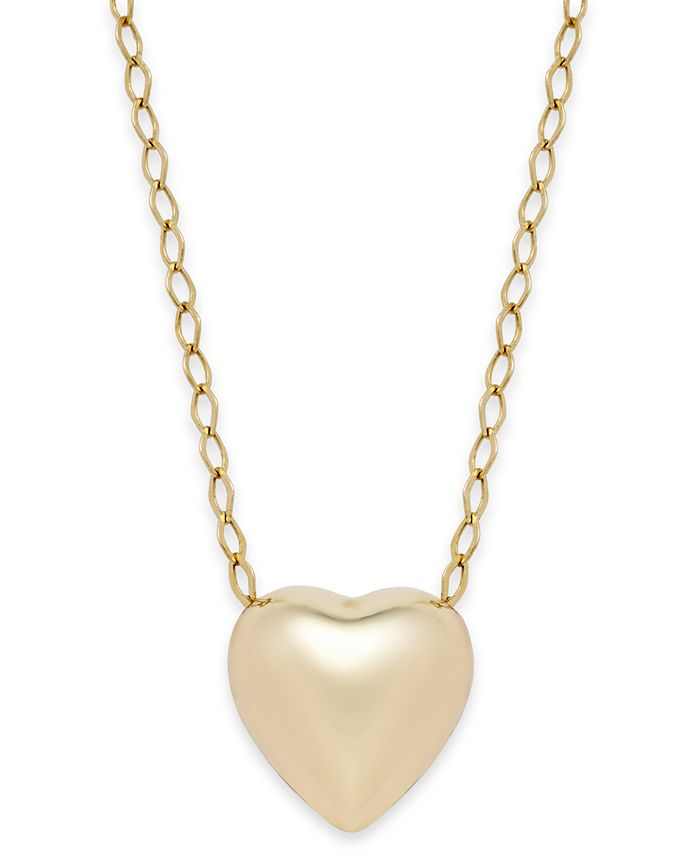Macy's - Polished Heart Pendant Necklace in 10k Gold