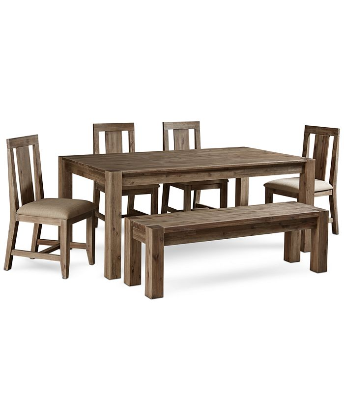 Furniture Canyon 6 Piece Dining Set Created For Macy S 72 Dining Table 4 Side Chairs Bench Reviews Furniture Macy S