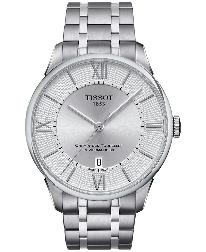 Tissot - Men's Swiss Automatic Chemin Des Tourelles Stainless Steel Bracelet Watch 42mm T0994071103800