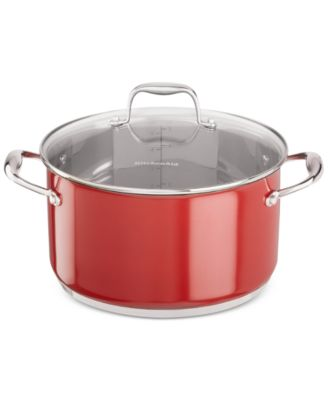 KitchenAid KCS60LCER Stainless Steel 6-Qt Casserole with Lid