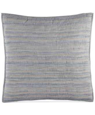 Hotel Collection Linen Stripe Quilted European Sham, Only at Macy's