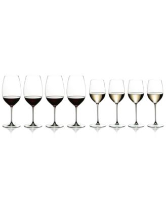 Riedel Veritas Cabernet/Merlot & Chardonnay/Viognier Wine 8 Piece Value Set