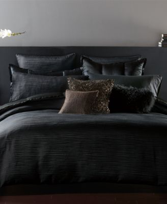 Donna Karan Home Reflection Ebony Full/Queen Duvet Cover