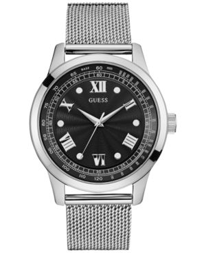 Guess Men's Stainless Steel Mesh Bracelet Watch 44mm U0683G1