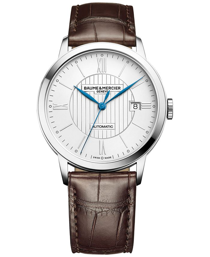 Baume & Mercier - Men's Swiss Automatic Classima Dark Brown Leather Strap Watch 40mm M0A10214