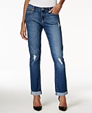 Earl Jeans Ripped Boyfriend Dark Blue Wash Jeans