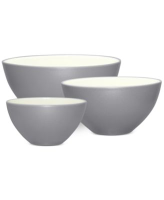 Noritake Colorwave Slate Stoneware 3-Pc. Bowl Set, A Macy's Exclusive Style
