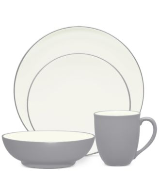 Noritake Colorwave Slate Stoneware 4-Pc. Coupe Place Setting, A Macy's Exclusive Style