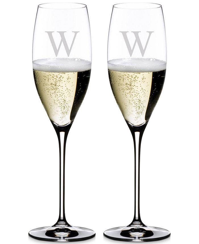 Riedel - Vinum Monogram Collection Crystal 2-Pc. Block W Cuvee Prestige Wine Glasses