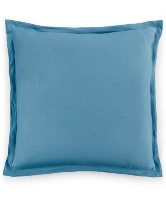 Hotel Collection Linen Turquoise European Sham, Only at Macy's