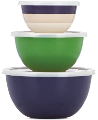 kate spade new york all in good taste Striped 6-Pc. Serving Bowl Set , Only at Macy's