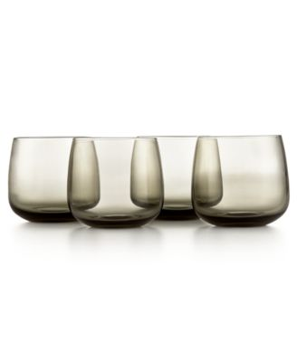 Hotel Collection Modern Stemless Wine Glasses, Set of 4, Only at Macy's