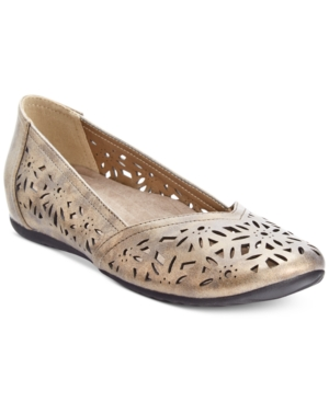 Easy Street Charlize Cutout Wedge Flats Women's Shoes