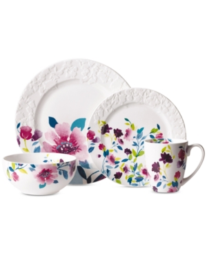 Kim Parker 16-Pc. Meadow Violet Dinnerware Set
