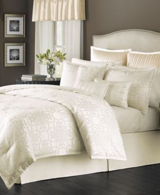 CLOSEOUT! Martha Stewart Collection Savannah Scroll Ivory 22-Pc. King Comforter Set, Only at Macy's