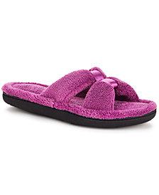 Isotoner Signature Women's Micro Terry X-Slide Slippers