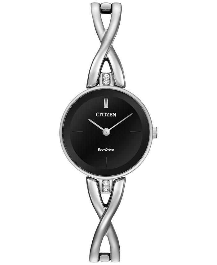 Citizen - Women's Eco-Drive Stainless Steel Bangle Bracelet Watch 23mm EX1420-50E