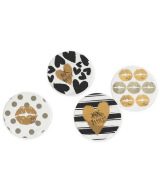 Betsey Johnson Set of 4 Coasters