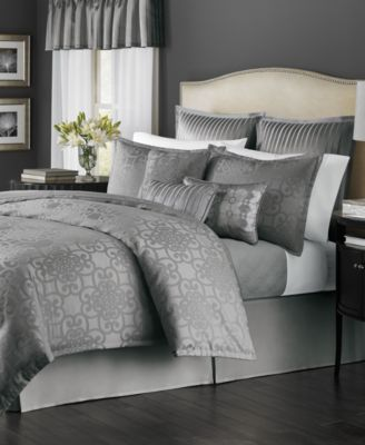 Martha Stewart Collection Savannah Graphite 22-Piece Queen Comforter Set, Only at Macy's