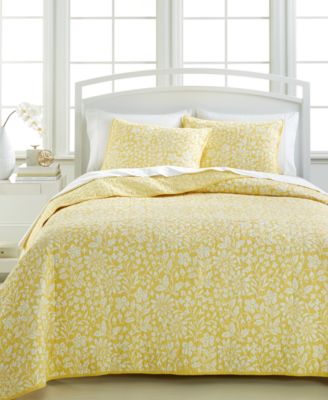 Martha Stewart Collection Georgina Meadow King Quilt, Only at Macy's
