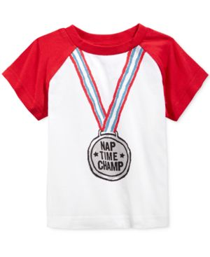 First Impressions Baby Boys' Short-Sleeve Nap Time Champ T-Shirt, Only at Macy's