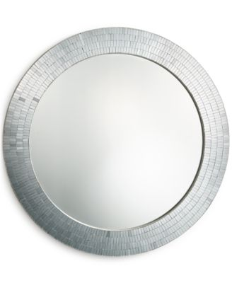 Home Design Studio Round Mosaic Mirror, Only at Macy's