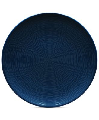 Noritake Navy-On-Navy Swirl Coupe Salad Plate