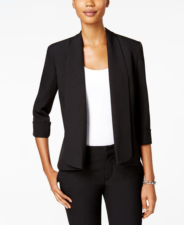 Kasper - Open Cuffed-Sleeve Jacket
