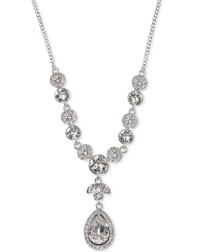 Givenchy - Multi-Crystal Lariat Necklace
