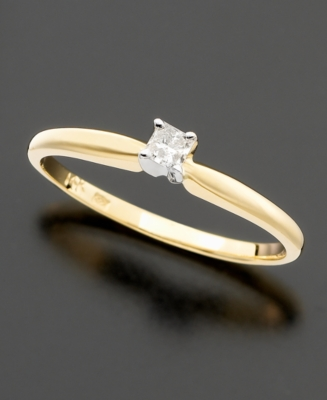 14k Gold Diamond Princess-Cut Promise Ring (1/10 ct. t.w.)