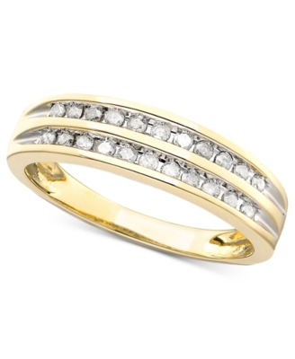 14k Gold Channel-Set Diamond Band Ring (1/4 ct. t.w.)