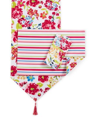 "Homewear Summertime Floral Table Linens Accessories Collection 90"" Table Runner"