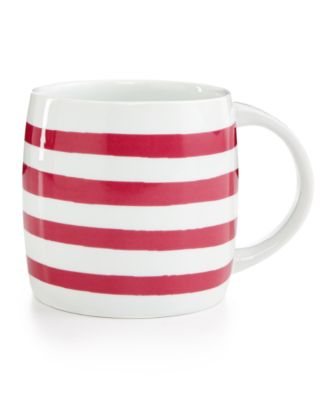 Whim by Martha Stewart Collection Mugs Collection Magenta Stripe Mug, Only at Macy's