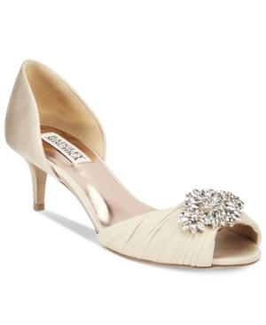 Badgley Mischka Caitlin Embellished d'Orsay Pumps Women's Shoes