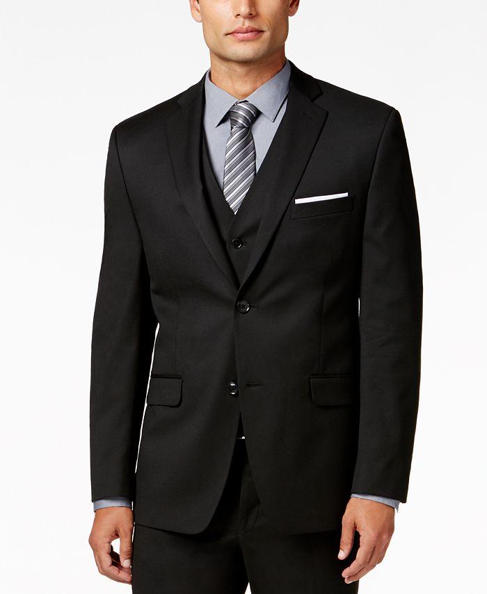 Alfani - Men's Traveler Black Solid Slim-Fit Jacket