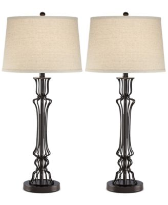Pacific Coast Set of 2 Wire Column Table Lamps, A Macy's Exclusive Style