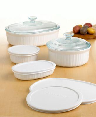 CorningWare Bakeware French White 10-Piece Set