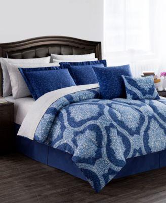 CLOSEOUT! Windsor Reversible 12-Pc. Queen Comforter Set