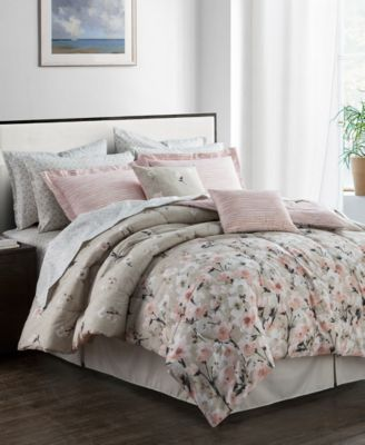 CLOSEOUT! Romantic Garden Reversible 12-Pc. Queen Comforter Set