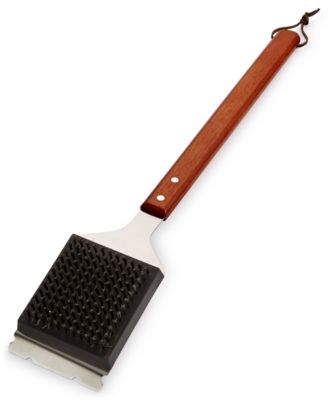 Martha Stewart Collection Wood Handled Grill Brush