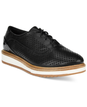 Wanted MacDaddy Perforated Lace-up Oxfords Women's Shoes
