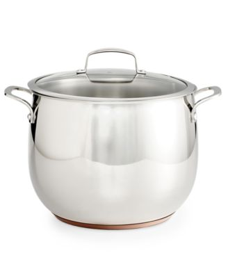 Belgique Copper Bottom 12-Qt. Stockpot with Lid, Only at Macy's