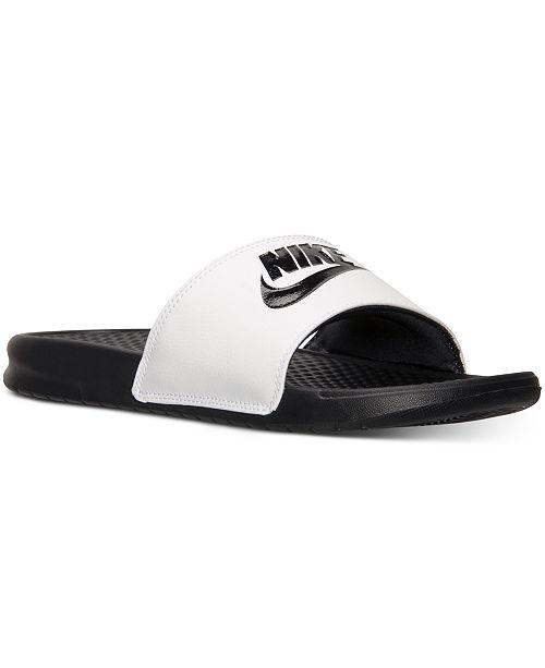 Nike Men's Benassi JDI Slide Sandals from Finish Line ...