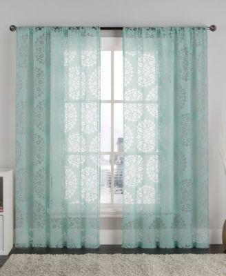 "Victoria Classics Milan 55"" x 84"" Burnout Sheer Pole Top Panel"