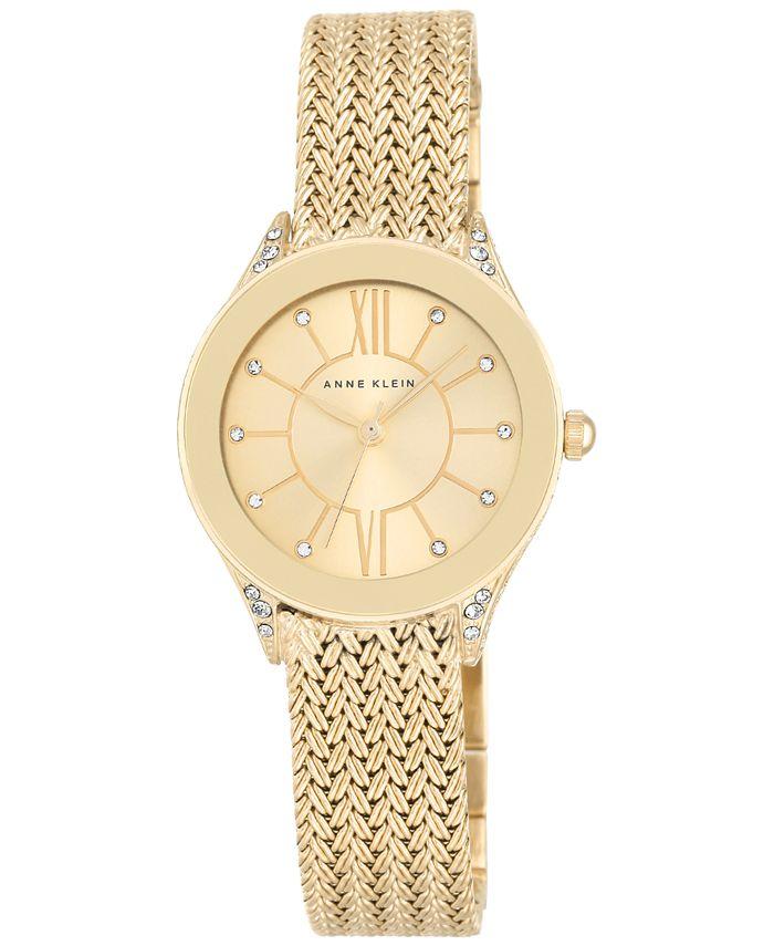 Anne Klein - Women's Gold-Tone Stainless Steel Mesh Bracelet Watch 30mm AK/2208CHGB