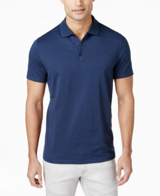 Image of Alfani Men's Chambray Polo, Only at Macy's
