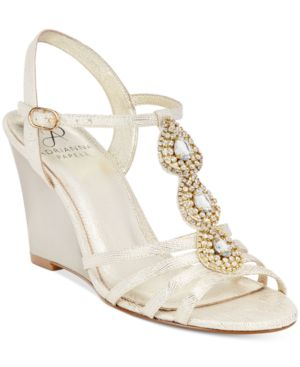 Adrianna Papell Kristen Evening Wedge Sandals Women's Shoes