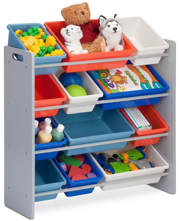 Honey Can Do - Kids Toy Room Organizer with Totes, 12 Bins