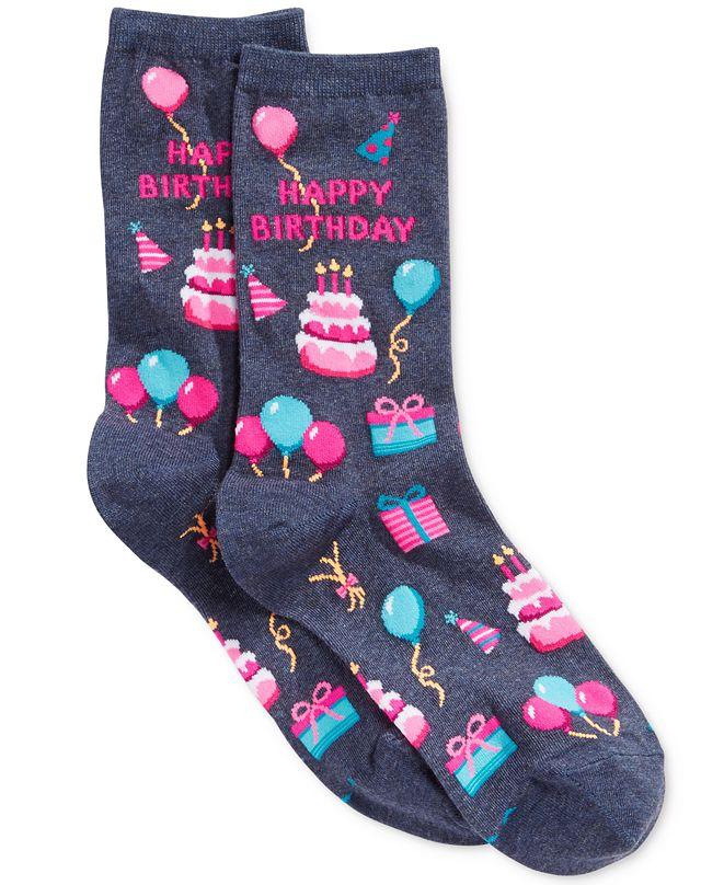 Hot Sox Women's Happy Birthday Fashion Crew Socks